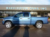 2005 Atlantic Blue Pearl Dodge Ram 1500 Sport Quad Cab 4x4 #43254692