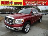 2007 Inferno Red Crystal Pearl Dodge Ram 1500 ST Quad Cab #43255053