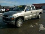2001 Light Pewter Metallic Chevrolet Silverado 1500 LT Extended Cab 4x4 #43254495