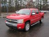 2011 Victory Red Chevrolet Silverado 1500 LT Crew Cab #43255069