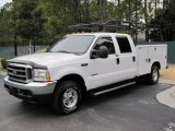 2004 Oxford White Ford F250 Super Duty Lariat Crew Cab 4x4 Chassis #43254347