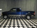 2002 Indigo Blue Metallic Chevrolet Silverado 1500 LT Extended Cab 4x4 #43254600