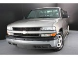 2000 Light Pewter Metallic Chevrolet Silverado 1500 LS Regular Cab #43338112