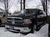 2010 Brilliant Black Crystal Pearl Dodge Ram 1500 Big Horn Crew Cab 4x4 #43339221