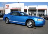 2000 Bright Atlantic Blue Metallic Ford Mustang V6 Coupe #43338521
