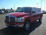 2007 Flame Red Dodge Ram 1500 SLT Quad Cab 4x4 #43339633