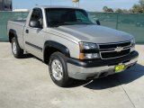 2006 Silver Birch Metallic Chevrolet Silverado 1500 LS Regular Cab 4x4 #43339106