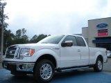 2011 White Platinum Metallic Tri-Coat Ford F150 Lariat SuperCab #43338813