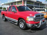 2002 Flame Red Dodge Ram 1500 SLT Quad Cab #43339999