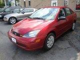 Sangria Red Metallic Ford Focus in 2004