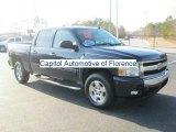 2008 Dark Blue Metallic Chevrolet Silverado 1500 LT Crew Cab #43441192