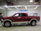 2010 Inferno Red Crystal Pearl Dodge Ram 1500 Laramie Crew Cab 4x4 #43440394