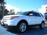2011 White Platinum Tri-Coat Ford Explorer Limited #43440219