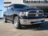 2009 Brilliant Black Crystal Pearl Dodge Ram 1500 Laramie Crew Cab 4x4 #43440955