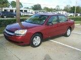 2005 Sport Red Metallic Chevrolet Malibu LS V6 Sedan #43555991