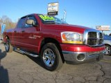 2006 Inferno Red Crystal Pearl Dodge Ram 1500 SLT Quad Cab #43556336
