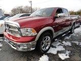 2010 Inferno Red Crystal Pearl Dodge Ram 1500 Laramie Crew Cab 4x4 #43556865