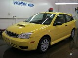 2005 Egg Yolk Yellow Ford Focus ZX3 SE Coupe #43557047