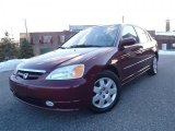2002 Radiant Ruby Red Pearl Honda Civic EX Sedan #43557145