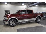 2011 Deep Cherry Red Crystal Pearl Dodge Ram 1500 Laramie Crew Cab #43781577