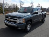 2008 Blue Granite Metallic Chevrolet Silverado 1500 LT Crew Cab #43782042