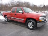 2002 Victory Red Chevrolet Silverado 1500 LS Extended Cab 4x4 #43781488