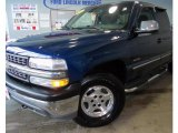 2002 Indigo Blue Metallic Chevrolet Silverado 1500 LS Extended Cab 4x4 #43880292