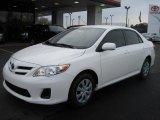 2011 Super White Toyota Corolla LE #43880755