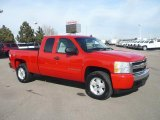 2007 Victory Red Chevrolet Silverado 1500 LT Extended Cab 4x4 #43879934