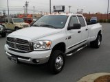 2007 Bright White Dodge Ram 3500 SLT Quad Cab 4x4 Dually #43881389