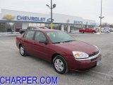 2005 Sport Red Metallic Chevrolet Malibu LS V6 Sedan #43881598