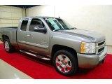 2009 Graystone Metallic Chevrolet Silverado 1500 LT Extended Cab 4x4 #43990960