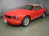 2005 Torch Red Ford Mustang V6 Deluxe Convertible #43991300
