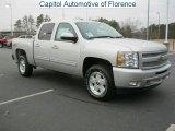 2011 Sheer Silver Metallic Chevrolet Silverado 1500 LT Crew Cab #43991751
