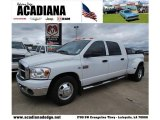 2007 Bright White Dodge Ram 3500 SLT Mega Cab Dually #43991053