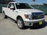 2011 White Platinum Metallic Tri-Coat Ford F150 Lariat SuperCab #44088168