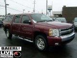 2008 Deep Ruby Metallic Chevrolet Silverado 1500 LT Crew Cab 4x4 #44087365
