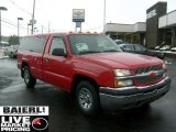 2005 Victory Red Chevrolet Silverado 1500 Regular Cab #44087366