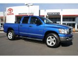 2008 Electric Blue Pearl Dodge Ram 1500 Big Horn Edition Quad Cab 4x4 #44087404