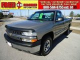 2000 Light Pewter Metallic Chevrolet Silverado 1500 Regular Cab 4x4 #44088830