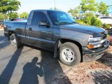 2002 Medium Charcoal Gray Metallic Chevrolet Silverado 1500 Work Truck Regular Cab #44087451