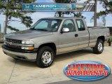 2001 Light Pewter Metallic Chevrolet Silverado 1500 LS Extended Cab 4x4 #44088844