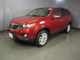 2011 Spicy Red Kia Sorento EX #44088314