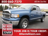 Atlantic Blue Pearl Dodge Ram 1500 in 2002