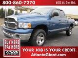 2002 Atlantic Blue Pearl Dodge Ram 1500 ST Quad Cab 4x4 #44089181