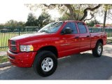2002 Flame Red Dodge Ram 1500 Sport Quad Cab 4x4 #44088117