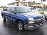 2004 Arrival Blue Metallic Chevrolet Silverado 1500 LS Extended Cab #44089306