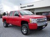 2008 Victory Red Chevrolet Silverado 1500 LT Crew Cab #4408551