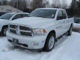 2011 Bright White Dodge Ram 1500 Big Horn Quad Cab 4x4 #44088662
