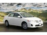 2011 Super White Toyota Corolla LE #44203085